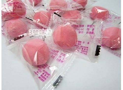 紅圓草莓果醬棉花糖