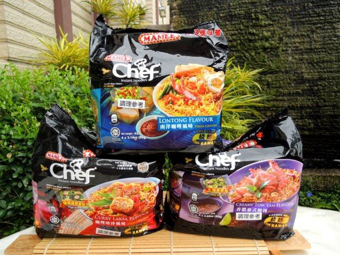 馬來西亞 MAMEE 金廚泡麵(80g*4包入) 南洋咖哩風味麵、泰式酸辣風味麵
