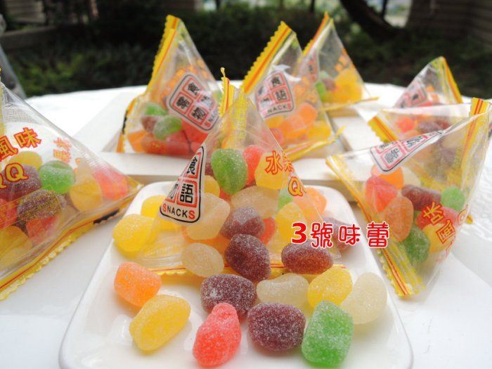 (三角包)零食物語 綜合水果QQ糖