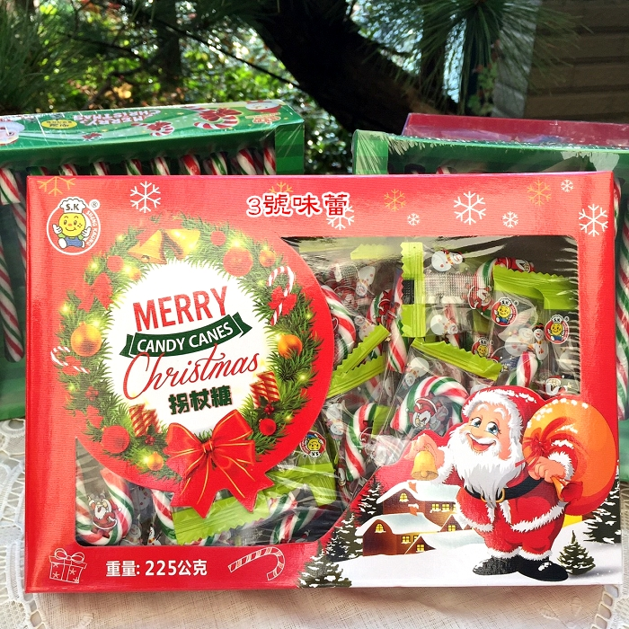 【盒裝】SK聖誕小拐杖糖225克(45支)