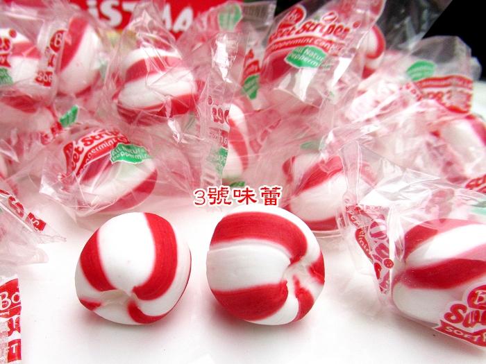 紅白圓球薄荷糖(可咀嚼的薄荷糖)