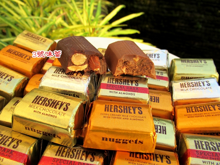 Hershey's 賀喜 綜合巧克力(杏仁黑巧克力/牛奶巧克力/杏仁牛奶巧克力/太妃杏仁牛奶巧克力)..隨機綜合