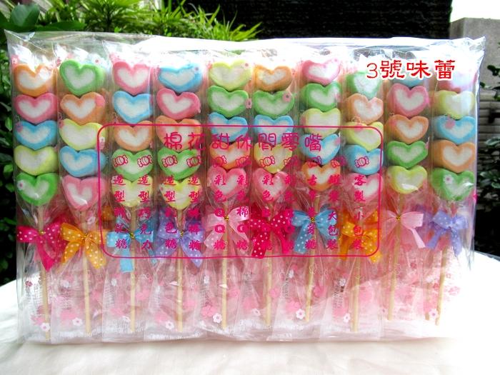 棉花串串糖-彩心50支