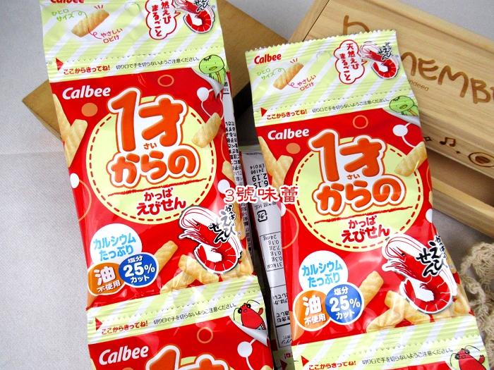 日本Calbee卡魯比嬰幼兒蝦味條4連包