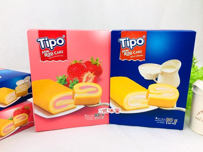TIPO瑞士捲80克(牛奶、草莓)80g