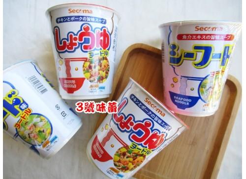 日本Secoma杯麵(海鮮、醬油)