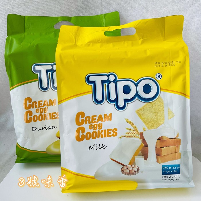 【Tipo】方塊吐司餅│牛奶吐司餅│榴槤吐司餅